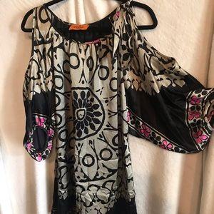 VOOM by Joy Hans silk cold shoulder dress (L)